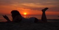 wschód słońca..
