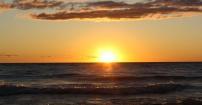 Sunset at lake Huron