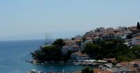 widok na wyspę Skiathos