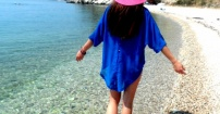 Spacer po dzikiej plaży..