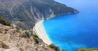 Widok na plażę Myrtos
