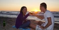 Wino na plaży