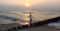 Zachód słońca w Rewalu