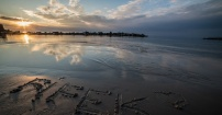 Pamiątka na piasku :)