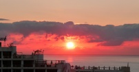 Wschód słońca z hotelu..