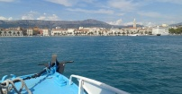 dobijanie do Splitu,Chorwacja