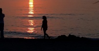 Zuza i zachód słońca
